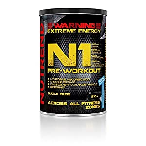 51QWPJIBCfL. SS300  - Nutrend N1 Pre-Workout, Blue Raspberry, 510g