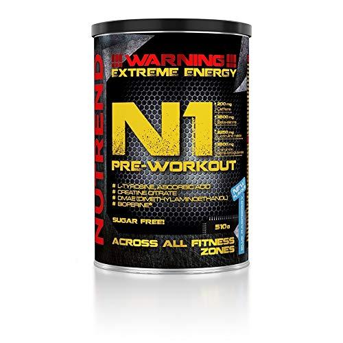Nutrend N1 Pre-Workout, Blue Raspberry, 510g, 8594014860184
