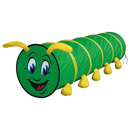 BINO 82805 | Spieltunnel grün, 180 cm | Tausendfüssler
