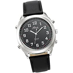Sprechende Armbanduhr Men Silver/Black