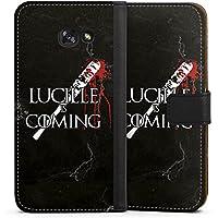 Samsung Galaxy A5 (2017) Tasche Leder Flip Case Hülle The Walking Dead Twd Lucille