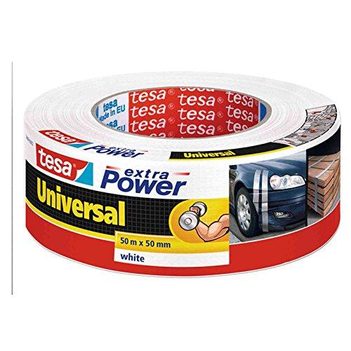 Tesa Extra Power universal Reparaturband/56389 in schwarz weiß und silber zur Auswahl (3, weiß)