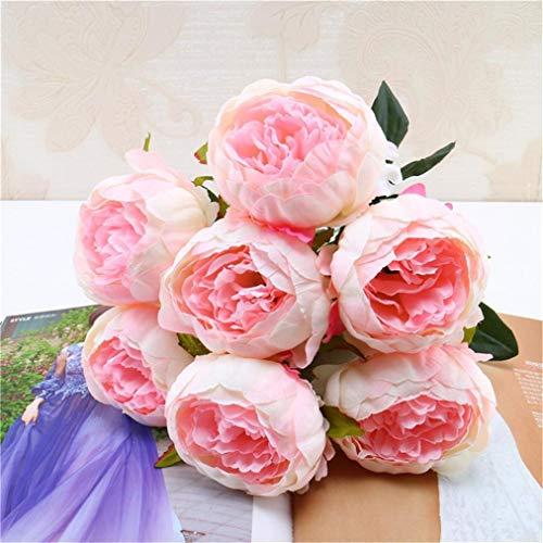 TAOtTAO 1 Blumenstrauß Vintage Künstliche Pfingstrose Seidenblumen Bouquet für Dekoration (A)