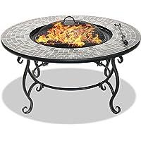 Centurion Supporta Fireology Ginessa giardino e patio Stufa focolare, Tavolino, Barbecue e secchiello per il ghiaccio con mosaico piastrelle in ceramica