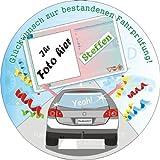 Pers.Tortenauflage–Führerschein– mit Foto & Name, Tortenaufleger