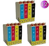 AA+inks Kompatible Patrone als Ersatz für T1281- T1284 für Epson Stylus S 22 SX 125 SX 130 SX 425 SX 440 SX 430 BX 305 SX 420 SX 445W SX 438W -12PK
