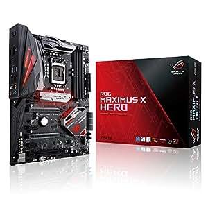 Asus ROG MAXIMUS X HERO WI-FI AC Scheda Madre Intel Z370 ATX Gaming con aura Sync RGB LED, DDR4 4133 MHz, Dual M2 e USB 3.1 gen 2, Nero