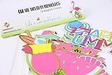 SUNBEAUTY Sommerfest Fotorequisiten 12er Set Booth Props Flamingo Foto Requisiten - 3