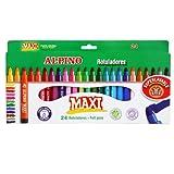 Alpino Maxi Trousse de 24 Surligneurs Couleurs Assorties