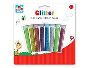 Anker Kids Create/Arts and Crafts Glitter Tubes, Plastic, Assorted Colour, 29.7 x 21 x 2 cm, Pack of 8