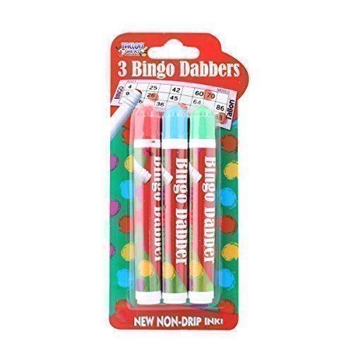 Bingo Tupfer 3er Pack Marker Stifte Verschiedene Farben Nicht-Tropfende Tinte -
