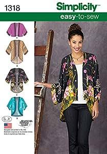 """Simplicity 1318Taille d'un """"Patrons de vestes Kimono Patron de Couture"""