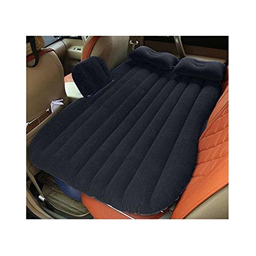 L&Z Auto Aufblasbare Matratze Auto Bett Mobile Kissen Camping Air Bed Mit Motorpumpe Zwei Kissen Für Reise Und Schlaf Rest,Black
