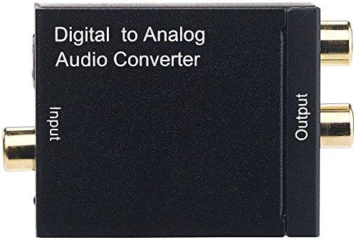 auvisio Digital Analog Wandler: Audio-Konverter digital zu analog, mit TOSLINK, Koaxial & Stereo-Cinch (Toslink Adapter)