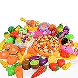 QARYYQ Spielhaus-Spielzeugmädchen-Küche DIY des Spielzeugs Der Spaß Geschnittenen Spielzeug
