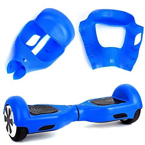 """Willdo Scooter Hülle Silikon Schutzhülle für 6,5\"""" 2 Wheels Balance Roller - Balance Hover Board Protector Schutzhülle (Blau)"""