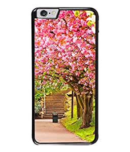 PrintVisa Designer Back Case Cover for Apple iPhone 6s Plus :: Apple iPhone 6s+ (Pink Abstract Illustration Steps Park Decorative Concept Vector)