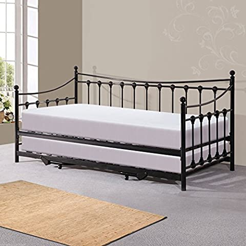 Hf4you Memphis Day Bed With Trundle - 3FT Single -