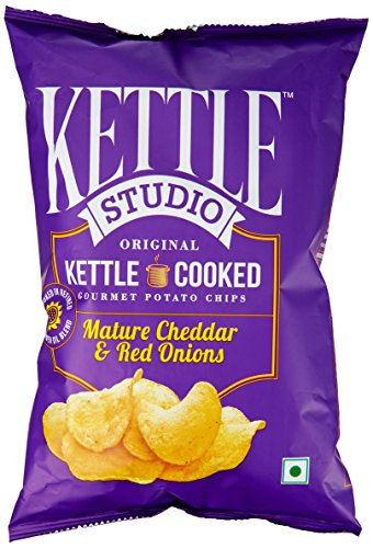 kettle Studio Potato Chips, Mature Cheddar and Red Onions, 125g  available at amazon for Rs.89