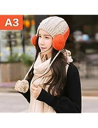 Bufanda ZHANGRONG- Invierno Sra Conjunto Sombrero Color Sólido Larga  Sección Mantener Caliente Salvaje Calor al 2eb8d601e11