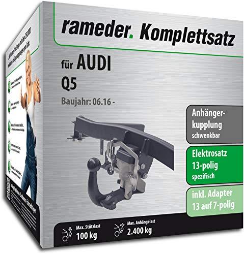 Rameder Komplettsatz, Anhängerkupplung schwenkbar + 13pol Elektrik für Audi Q5 (150616-37161-1)