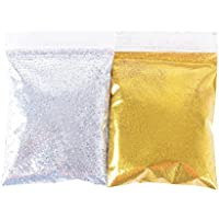 100g Purpurina Fina Glitter para DIY Manualidades Artes Slime Decoración Dorada y Plateada