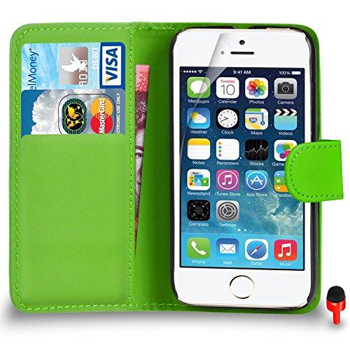 Apple iPhone SE Pack 1, 2, 3, 5, 10 Protecteur d'écran & Chiffon SVL0 PAR SHUKAN®, (PACK 10) Portefeuille VERT