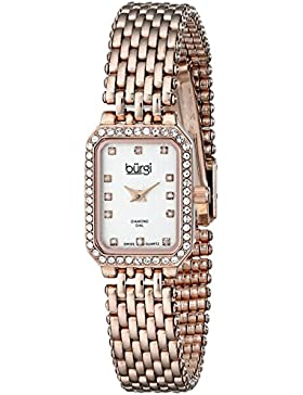 Burgi Damen-Armbanduhr Rose tone-gold Edelstahl