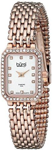 Burgi Damen-Armbanduhr Rose tone-gold Edelstahl (Schweizer Rose Gold Watch)