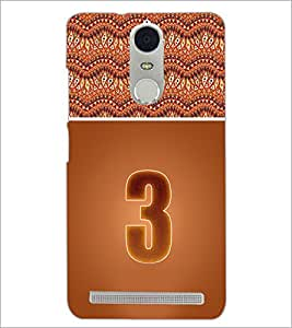 PrintDhaba Numerology Number 3 D-3635 Back Case Cover for LENOVO K5 NOTE (Multi-Coloured)