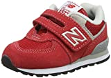 New Balance Unisex-Kinder Iv574v1 Sneaker, Rot (Red/Grey), 25 EU