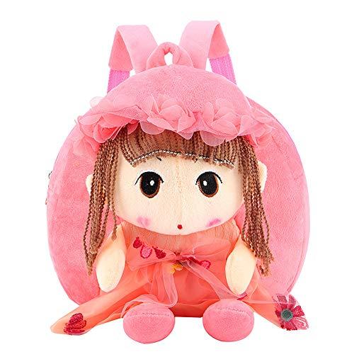 (Nette Kinder Kleinkind Rucksack, Plüsch Spielzeug Rucksack Snack Reisetasche Pre-Schultaschen für Kinder Kleinkind Mädchen 1-6 Jahre)