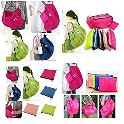 ZA eShop 3 Way Easy To Carry Foldable Multipurpose Bag (Pink)