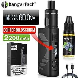 E Zigarette Starter Set Kangertech 60W 2200mAh Subox Mini V2 OLED Screen Verdampfer 2mL NCOCC 0,8/1,5ohm, E Shisha KBOX Mini akkuträger, Dampfer E-zigaretten mit liquid Ohne Nikotin