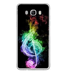 FUSON Designer Back Case Cover for Samsung Galaxy J5 (6) 2016 :: Samsung Galaxy J5 2016 J510F :: Samsung Galaxy J5 2016 J510Fn J510G J510Y J510M :: Samsung Galaxy J5 Duos 2016 (Musical design Music note design Instrumental design Melody design Music rock design)