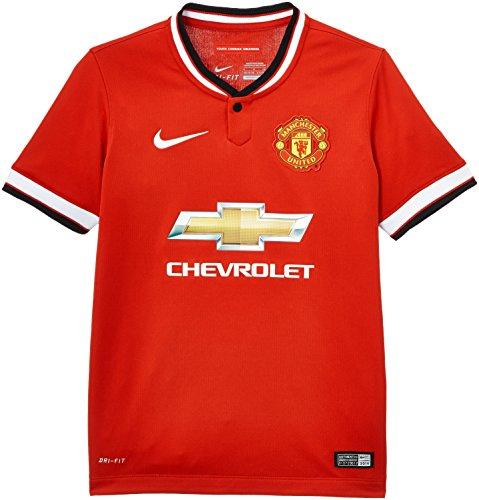 Nike Kinder Heimtrikot Manchester United, kurzärmelig rot Diablo Red/Football White/Football White M Manchester Trim