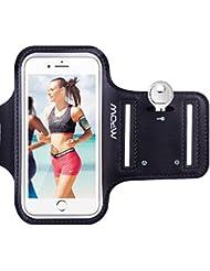 """Mpow Brassard Sport iPhone 6/ 6s iPhone 7/7s 4,7"""" Sport Sweatproof Anti-Sueur Etui Armband Noir Unisexe avec Etui de Portefeuille et Porte-Clé pour le Jogging Running Faire du Fitness avec 2 Sangles Réglables."""
