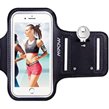 Brazalete Deportivo para 5 Pulgados Moviles iPhone 7 6 6S Antideslizante Contra Sudor,  Mpow Banda para Brazo con Bolsillito de LLaves, Material de Neopren, para iPhone 7 6 6s, Samsung, Huawei, Bq x5, HTC, LG