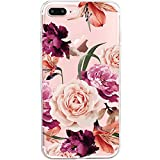 iPhone 8 Plus Case, Apple iPhone8 Plus Case Blume Rose Magnolien Blühen Soft Crystal Bumper Case Kratzfeste Schutzhülle Scratchproof Case Perfectly Fit iPhone 8 Plus (iPhone 8 Plus, 3)