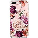 Pacyer Coque iPhone 7/7 plus Coque Transparente Motif Premium Feuille TPU Souple Etui...