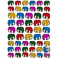 Elephant Colorful Animal sticker decal Metallic Glitter 1 sheet Dimensions: 13.5 cm x 10 cm