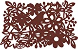 Dining Table Mat in Brown Made from Virgin-PVC - 6 Pcs Set (45cm x 30cm)