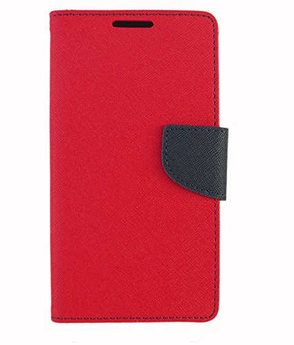 Zocardo Fancy Diary Wallet Flip Case Cover for iBall Andi 5K Sparkle - Red - Premium Cover with Inner Pocket  available at amazon for Rs.399