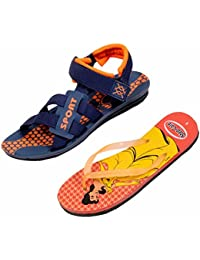 Indistar KRS Men Sandal And Step Care Flip Flop And House Slipper For Women -Set Of 2 Pairs - B072L6DKCM