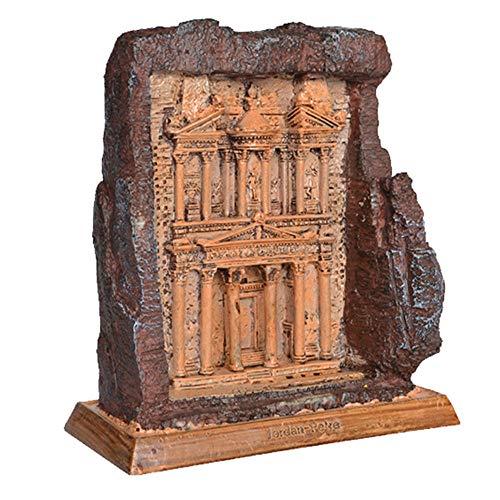 HPDOM Dekorative Hausdekoration, Architekturmodell Dekoration, Jordan Antike Stadt, Architektonische Sammlung, Harzfiguren, Souvenirgeschenke (12,3x7,1x14,1 cm)