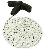 Cuerda de arranque para cortacésped + mango de 2,8mm de diámetro y cordón de 2m