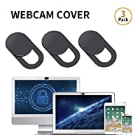 ‏‪Webcam Cover, lesgos 0.03inch Ultra-Thin Web Camera Cover Slide for Laptop, Computer, Macbook Pro, Mac, PC, Surface Pro, iPhone and Android Smartphones, Protect Your Privacy and Security(3Pcs)‬‏
