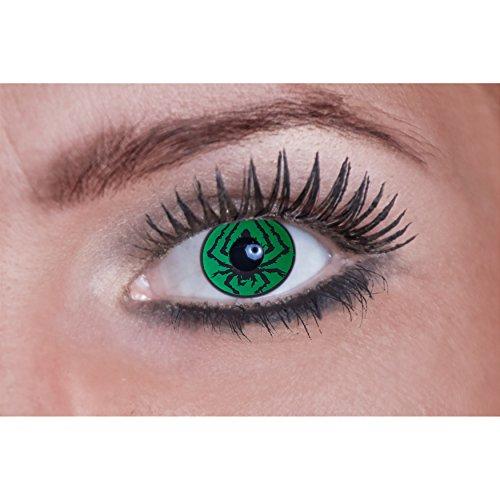 Eyecatcher Color Fun-Lenti a contatto-Green Spider/Verdi, colorate ragno ragnatela (1x 2pezzi)