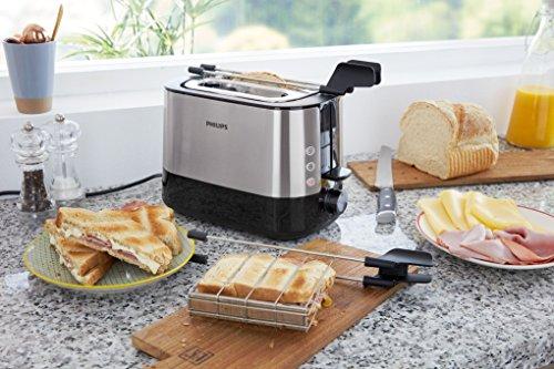 confronta il prezzo Philips HD2639/90 Viva Collection Tostapane con Lati in Metallo e Pinza per Sandwich, 730 W miglior prezzo