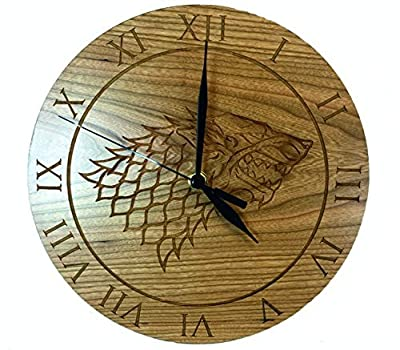 Game of Thrones Inspired House Stark Cherry Clock